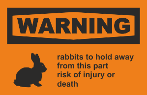 warning rabbits